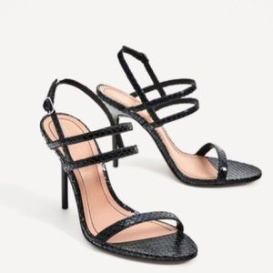 UNWORN W/ TAGS Zara heels sandals black